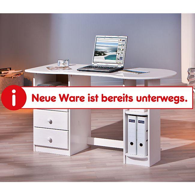 Inter Link Computertisch Touchround in Kiefer weiss - Bild 1