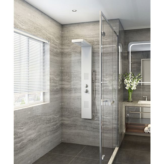 Home Deluxe Duschpaneel Cascata, weiß - Bild 1