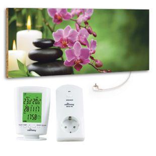 """Marmony 800W Infrarot-Heizung Motiv """"Relax"""" mit Thermostat MTC-40 - Bild 1"""