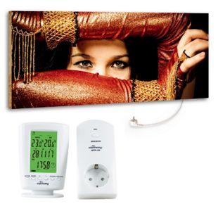"""Marmony 800W Infrarot-Heizung Motiv """"Arabic Eyes"""" mit Thermostat MTC-40 - Bild 1"""
