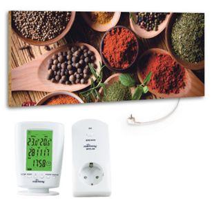 """Marmony 800W Infrarot-Heizung Motiv """"Spice"""" mit Thermostat MTC-40 - Bild 1"""