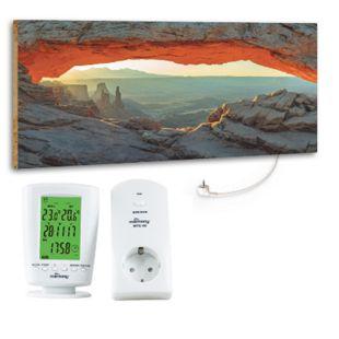 """Marmony 800W Infrarot-Heizung Motiv """"Mountain View"""" mit Thermostat MTC-40 - Bild 1"""