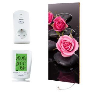 """Marmony 800W Infrarot-Heizung Motiv """"Roses"""" mit Thermostat MTC-40 - Bild 1"""