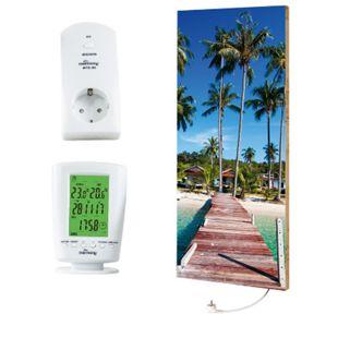 "Marmony 800W Infrarot-Heizung Motiv ""Beach 2"" mit Thermostat MTC-40 - Bild 1"