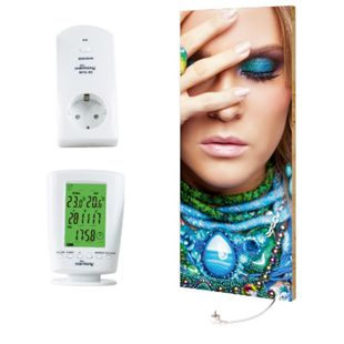 """Marmony 800W Infrarot-Heizung Motiv """"Beauty"""" mit Thermostat MTC-40 - Bild 1"""