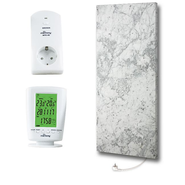 Marmony Infrarotheizung C780Plus (800W) Carrara mit Thermostat MTC-40 - Bild 1