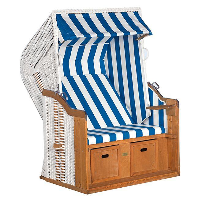SunnySmart Strandkorb Rustikal 250 Basic, blau-weiß - Bild 1