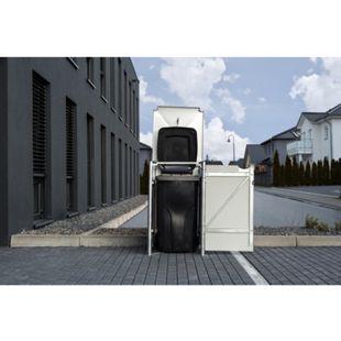 Hide Mülltonnenbox 140l Kunststoff; 1er Box, schwarz - Bild 1