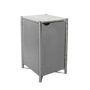 Hide Mülltonnenbox 140l Kunststoff; 1er Box, grau - Bild 1