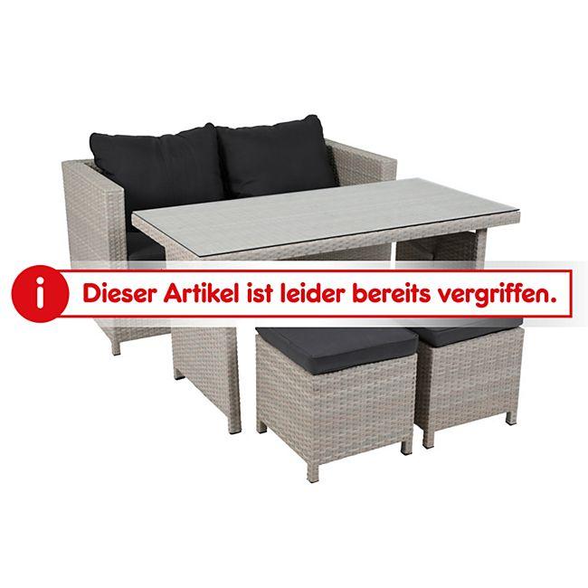 Greemotion Lounge-Set Kiel, 4-tlg, Polyrattan/Alu online kaufen   Netto