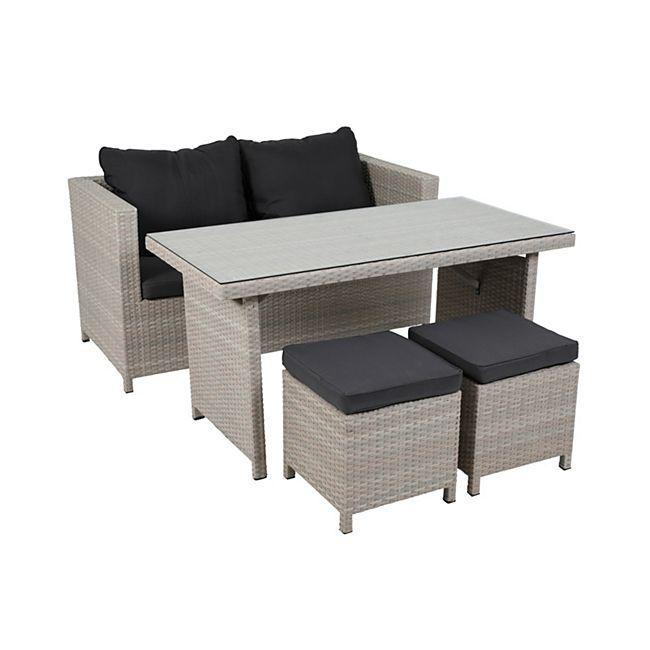 greemotion lounge set kiel 4 tlg polyrattan alu online. Black Bedroom Furniture Sets. Home Design Ideas