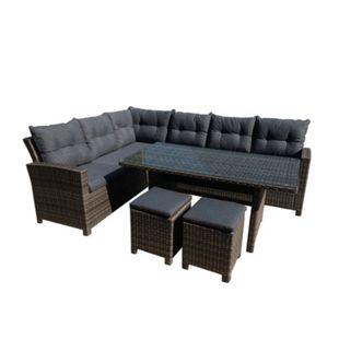 Greemotion Lounge Set Tessin,Alu,PE-Geflecht,5-tlg - Bild 1