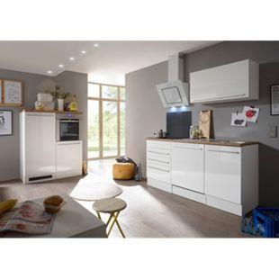 Respekta Premium Küchenzeile/Doppelblock BERP290HWWC weiß matt-weiß Hochglanz - Bild 1