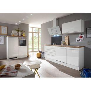 Respekta Premium Küchenzeile/Doppelblock BERP320HWWC weiß matt-weiß Hochglanz - Bild 1