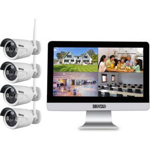 """WLAN Komplettset 4-Kanal Netzwerkrekorder mit 25,4 cm (10"""" Zoll) LCD-Bildschirm und 4 x HD 1.3MP Überwachungskameras - Bild 1"""