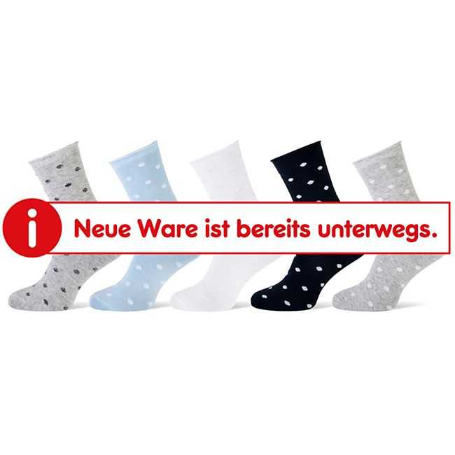 Damen Socken 5er lurex dots (gepunktet, glitzer) Gr. 35/38 - Bild 1