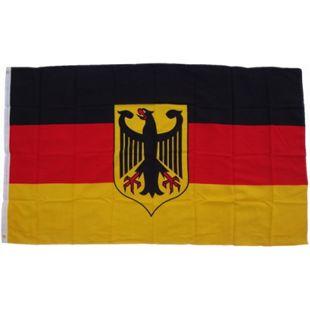XXL Flagge Deutschland mit Adler 250 x 150 cm Fahne mit 3 Ösen 100g/m² Stoffgewicht - Bild 1
