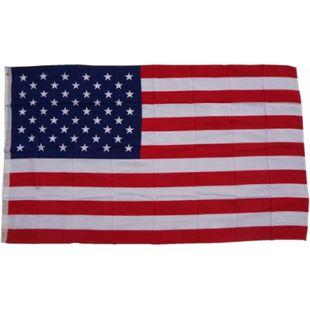 XXL Flagge USA 250 x 150 cm Fahne mit 3 Ösen 100g/m² Stoffgewicht - Bild 1