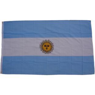 XXL Flagge Argentinien 250 x 150 cm Fahne mit 3 Ösen 100g/m² Stoffgewicht - Bild 1