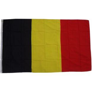 XXL Flagge Belgien 250 x 150 cm Fahne mit 3 Ösen 100g/m² Stoffgewicht - Bild 1
