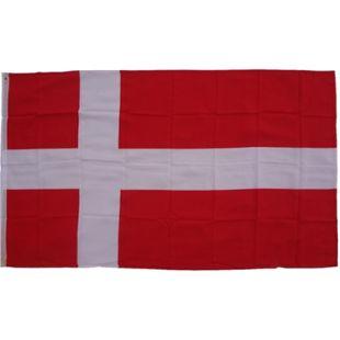 XXL Flagge Dänemark 250 x 150 cm Fahne mit 3 Ösen 100g/m² Stoffgewicht - Bild 1