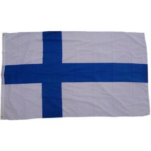 XXL Flagge Finnland 250 x 150 cm Fahne mit 3 Ösen 100g/m² Stoffgewicht - Bild 1
