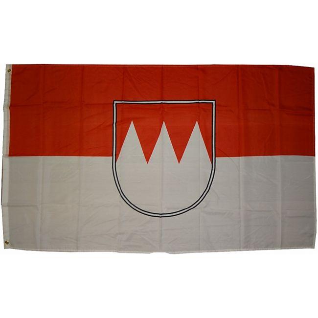 XXL Flagge Franken 250 x 150 cm Fahne mit 3 Ösen 100g/m² Stoffgewicht - Bild 1