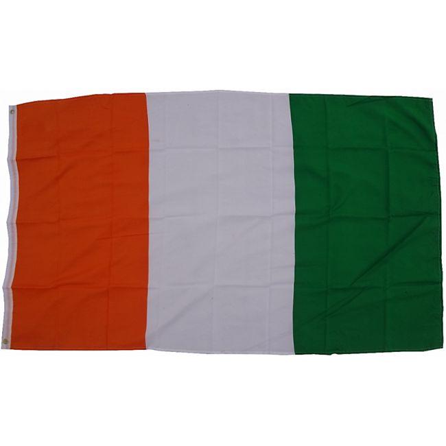 XXL Flagge Elfenbeinküste 250 x 150 cm Fahne mit 3 Ösen 100g/m² Stoffgewicht - Bild 1