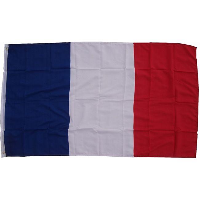 XXL Flagge Frankreich 250 x 150 cm Fahne mit 3 Ösen 100g/m² Stoffgewicht - Bild 1
