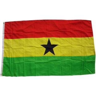 XXL Flagge Ghana 250 x 150 cm Fahne mit 3 Ösen 100g/m² Stoffgewicht - Bild 1
