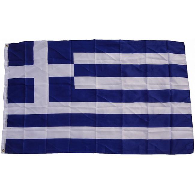 XXL Flagge Griechenland 250 x 150 cm Fahne mit 3 Ösen 100g/m² Stoffgewicht - Bild 1