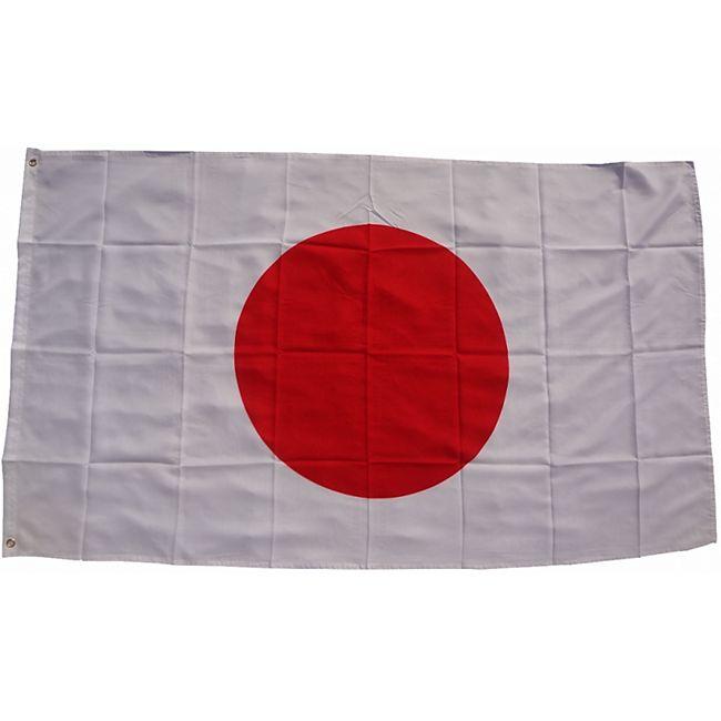 XXL Flagge Japan 250 x 150 cm Fahne mit 3 Ösen 100g/m² Stoffgewicht - Bild 1