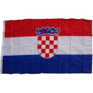 XXL Flagge Kroatien 250 x 150 cm Fahne mit 3 Ösen 100g/m² Stoffgewicht - Bild 1