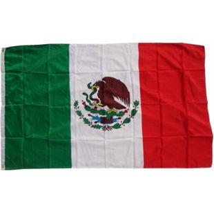 XXL Flagge Mexiko 250 x 150 cm Fahne mit 3 Ösen 100g/m² Stoffgewicht - Bild 1