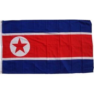 XXL Flagge Nordkorea 250 x 150 cm Fahne mit 3 Ösen 100g/m² Stoffgewicht - Bild 1