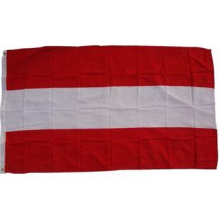 XXL Flagge Österreich 250 x 150 cm Fahne mit 3 Ösen 100g/m² Stoffgewicht - Bild 1