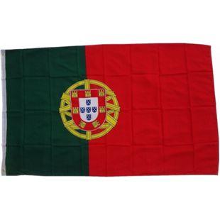 XXL Flagge Portugal 250 x 150 cm Fahne mit 3 Ösen 100g/m² Stoffgewicht - Bild 1