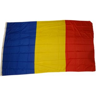 XXL Flagge Rumänien 250 x 150 cm Fahne mit 3 Ösen 100g/m² Stoffgewicht - Bild 1
