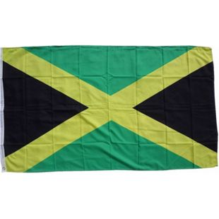 XXL Flagge Jamaika 250 x 150 cm Fahne mit 3 Ösen 100g/m² Stoffgewicht - Bild 1