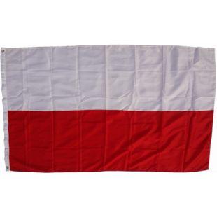XXL Flagge Polen 250 x 150 cm Fahne mit 3 Ösen 100g/m² Stoffgewicht - Bild 1