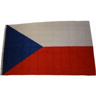 XXL Flagge Tschechien 250 x 150 cm Fahne mit 3 Ösen 100g/m² Stoffgewicht - Bild 1