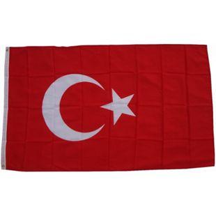 XXL Flagge Türkei 250 x 150 cm Fahne mit 3 Ösen 100g/m² Stoffgewicht - Bild 1