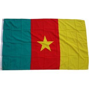 XXL Flagge Kamerun 250 x 150 cm Fahne mit 3 Ösen 100g/m² Stoffgewicht - Bild 1
