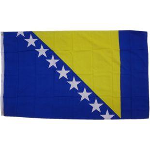 XXL Flagge Bosnien-Herzogowina 250 x 150 cm Fahne mit 3 Ösen 100g/m² Stoffgewicht - Bild 1