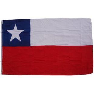 XXL Flagge Chile 250 x 150 cm Fahne mit 3 Ösen 100g/m² Stoffgewicht - Bild 1