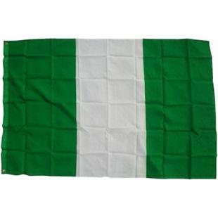 XXL Flagge Nigeria 250 x 150 cm Fahne mit 3 Ösen 100g/m² Stoffgewicht - Bild 1