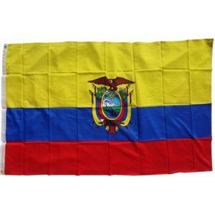 XXL Flagge Ecuador 250 x 150 cm Fahne mit 3 Ösen 100g/m² Stoffgewicht - Bild 1