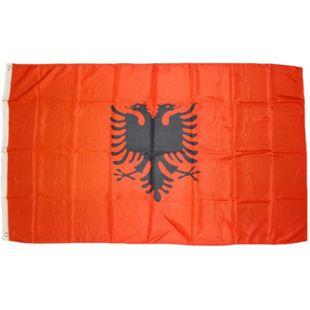 XXL Flagge Albanien 250 x 150 cm Fahne mit 3 Ösen 100g/m² Stoffgewicht - Bild 1