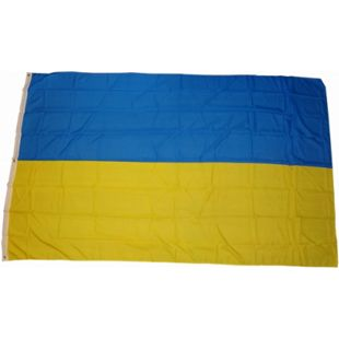 XXL Flagge Ukraine 250 x 150 cm Fahne mit 3 Ösen 100g/m² Stoffgewicht - Bild 1