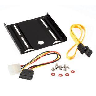 Poppstar Einbau-Kit für interne SSD / HDD inkl. Einbaurahmen für 2,5 Zoll Eisen SATA3 - Bild 1